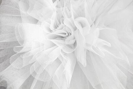 Foto de Closeup detail backdrop of the ballerina white tutu dress - Imagen libre de derechos
