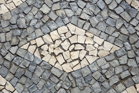 Photo for Closeup surface of the blocky pattern old stone pavement - Royalty Free Image