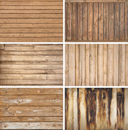 Various types of old wooden backgrouds