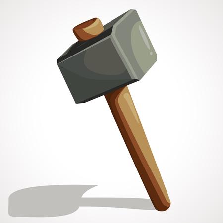 Cartoon sledgehammer tool. Sledgehammer vector stock illustration.