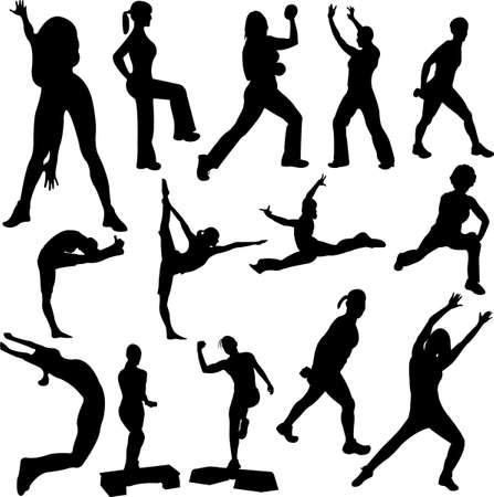 Ilustración de aerobics girl - Imagen libre de derechos