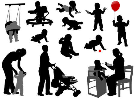 Photo for babies and toddlers silhouettes - Royalty Free Image