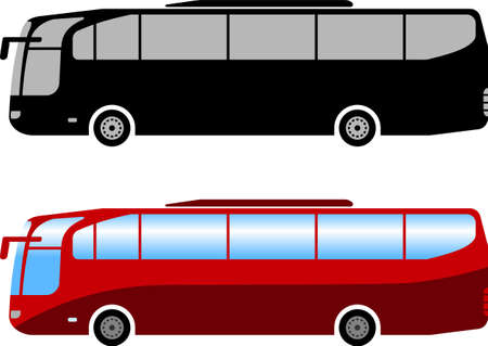 Illustration for coach bus simple illustration - vector - Royalty Free Image