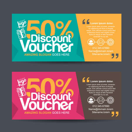 Gift Voucher Template With Colorful Patterncute Gift Voucher