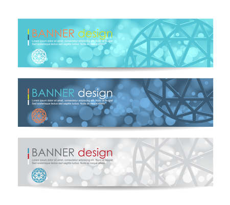 Ilustración de Vector illustration,A set of modern vector banners with polygonal background,vector background - Imagen libre de derechos