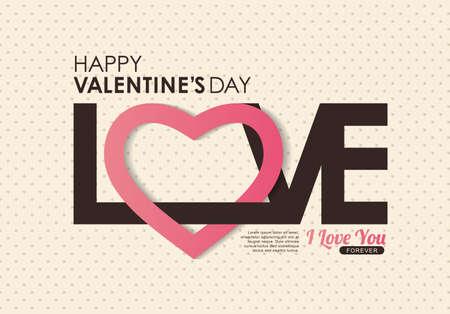 Ilustración de Happy Valentines day card ,vector background - Imagen libre de derechos