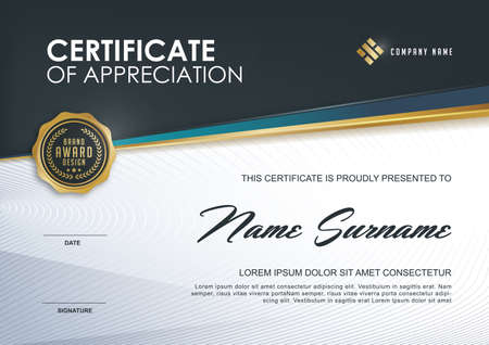 Illustration pour certificate template with Luxury and modern pattern,xA;Qualification certificate blank template with elegant,Vector illustration - image libre de droit