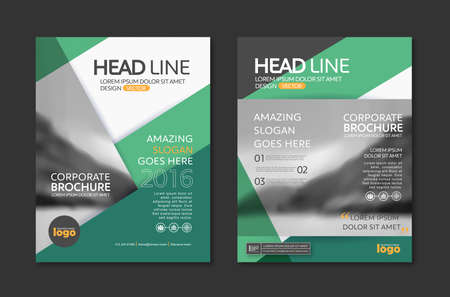 Ilustración de Vector Brochure Flyer design Layout template in A4 size - Imagen libre de derechos