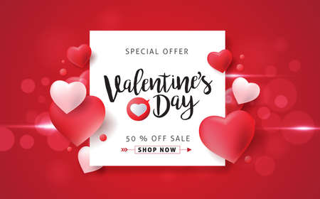 Illustration pour Valentines day sale background with icon set pattern. Vector illustration.Wallpaper.flyers, invitation, posters, brochure, banners. - image libre de droit