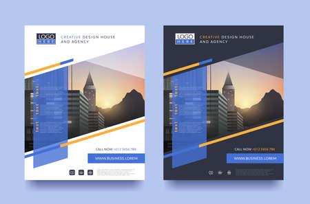 Illustration pour poster flyer pamphlet brochure cover design layout space for photo design, vector template in A4 size - image libre de droit