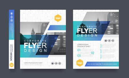 Illustration pour poster flyer pamphlet brochure cover design layout space for photo background, vector template in A4 size - image libre de droit