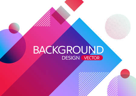Illustration for Abstract geometric round circle shapes gradient color background for design,vector background - Royalty Free Image