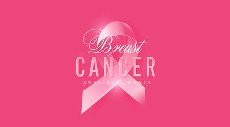 Illustration pour Breast cancer october awareness month pink ribbon banner background,vector illustration - image libre de droit
