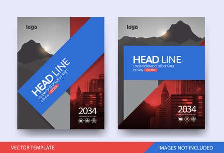 Illustration pour Corporate book cover design Layout template - image libre de droit