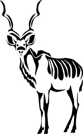 stylized antelope kudu