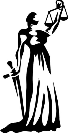 Lady Justice Royalty Free Vector Graphics
