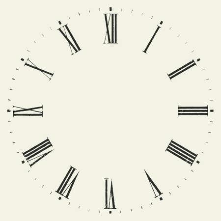 Illustration pour Vintage dial. Vector roman numeral clock. - image libre de droit