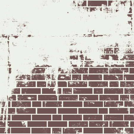 Plastered brick wall  Vector background: Royalty-free vector