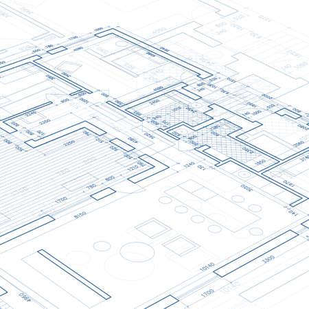 Foto de Blueprint. Vector drawing background. - Imagen libre de derechos
