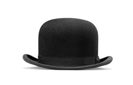 Foto de a bowler hat isolated on a white background - Imagen libre de derechos