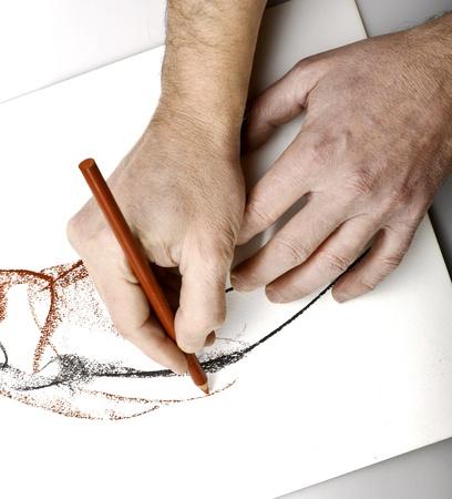 Foto de Drawning hands - Imagen libre de derechos