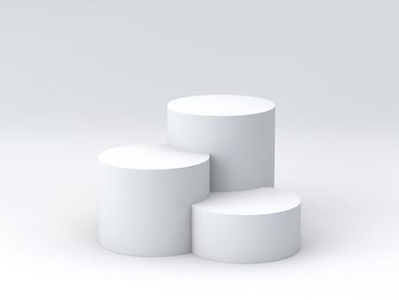 Foto de Empty podium on white background. 3D rendering. - Imagen libre de derechos