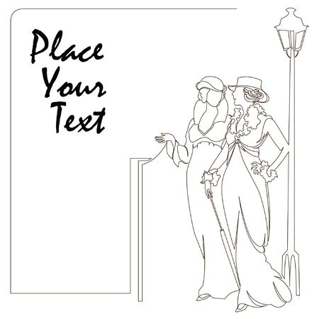 Illustration for elegant sketch for decoration and design of your work - Royalty Free Image