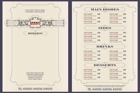 Illustration pour Vector stock illustration. Template cafe or restaurant menu. - image libre de droit