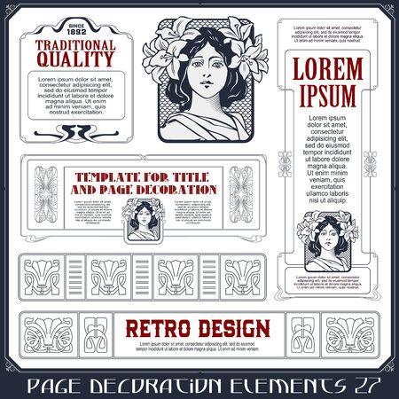 Illustration pour Stock illustration. Vector set of calligraphic design elements and page decor. - image libre de droit