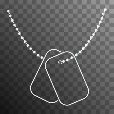 Dog Tags with Chain icon isolated on transparent background  Vector