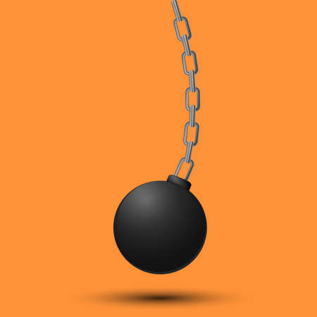 Illustration for A vector illustration of wrecking ball. - Royalty Free Image