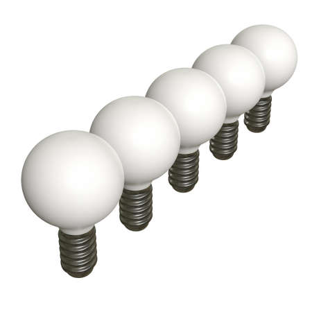 Photo for Lamp bulb. Business idea. 3d render illustration isolated on white background. - Royalty Free Image