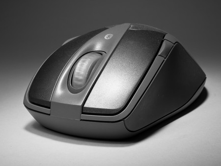 PC mouse on black and white style