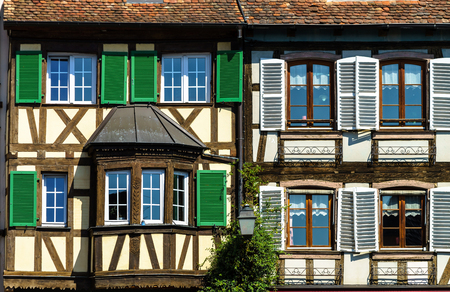 Classic timber-framing alsacien houses on the sun, Barr, France