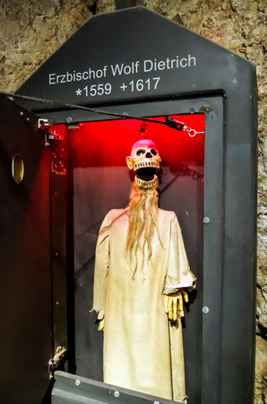 23 august 2016. Austria, Salzburg. Museum of old marionettes, theater of dolls.