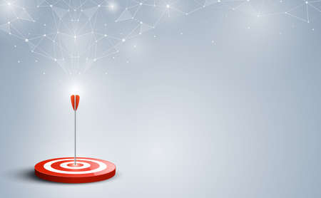 Target with arrow. Targets hit in the center by an arrow with abstract background. Concept target of business and marketing. Vector illustration