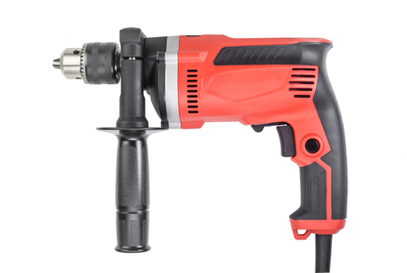 Hand electric drill isolated on white background