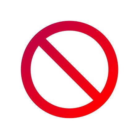 Illustration pour forbidden sign isolated on white - image libre de droit