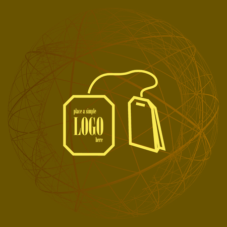 Teabag / tea bag line art icon for apps and websites
