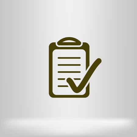 Check list icon illustration