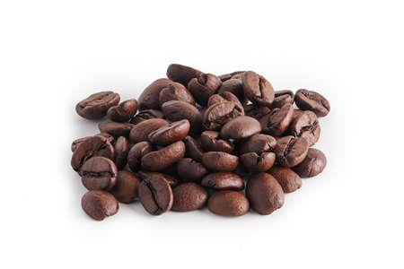Photo pour coffee beans on white background - image libre de droit