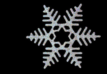 Christmas snowflake on black background