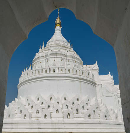 White pagoda of Hsinbyume  Myatheindan  in Mingun, Myanmar  Myanmar