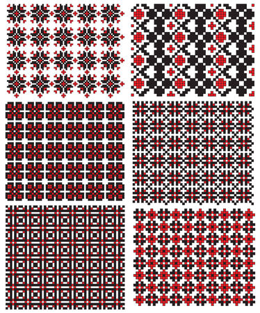 there is a scheme of ukrainian pattern for embroidery