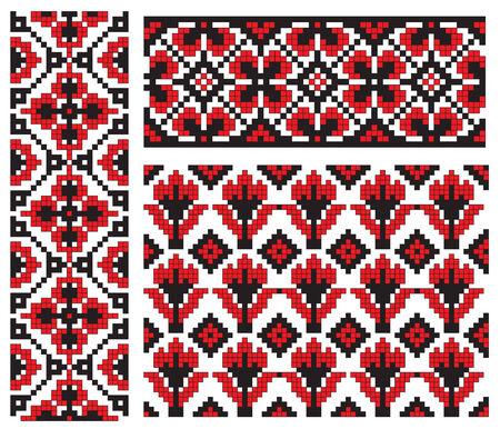 flower element ukrainian embroidery