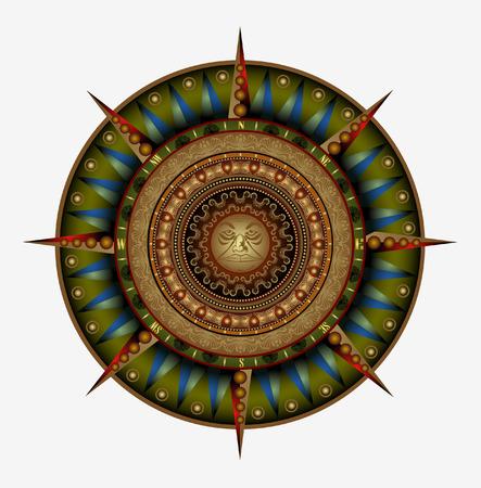 compass wind rose symbol