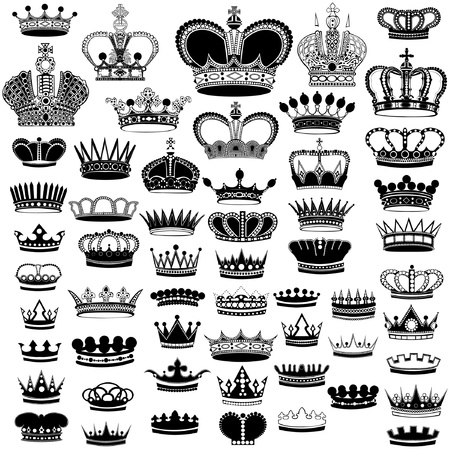 big silhouette crown set