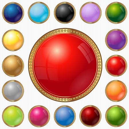 luxury web circle button color