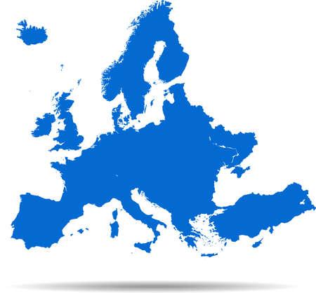 Illustration pour vector map of the Europe - image libre de droit