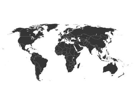 Illustration for map of world - Royalty Free Image